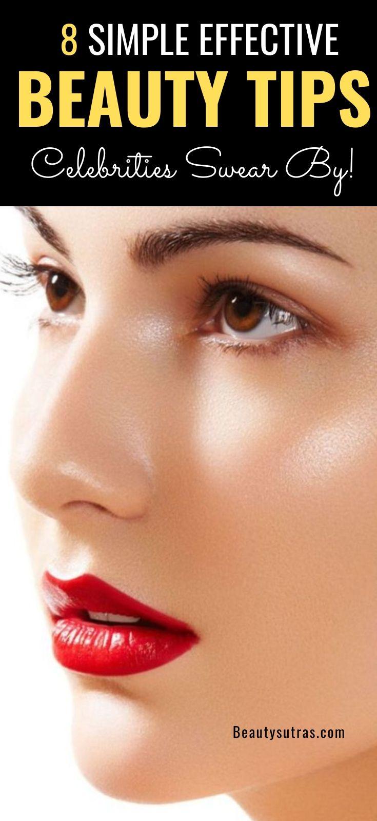 12 Simple Beauty Tips Celebrities Swear by - BeautySutras